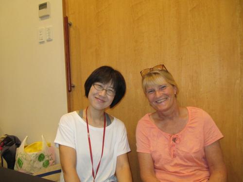 Trainerin Tomoko  Hori