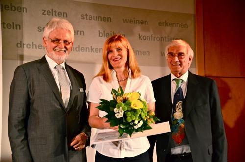 Dr. Wolfram Hartmann, Autorin Dorothea Brumerloh und Verleger Norbert Beleke