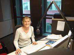 Dorothea im neuen Studio von Radio Bremen